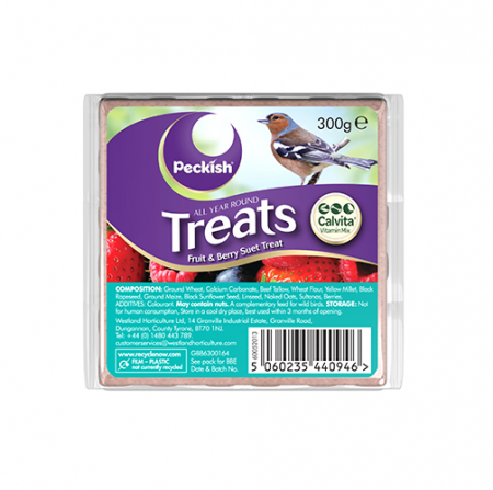 Peckish Fruit & Berry 300g Suet Cake