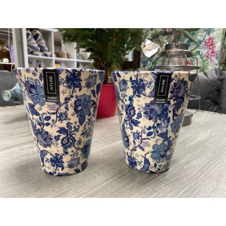 Blue and White Orchid Pot 14cm
