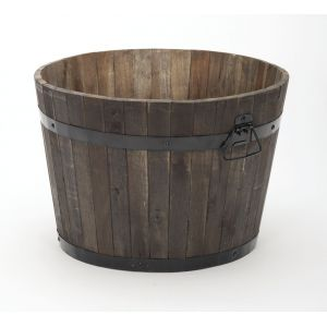 Rustic Wood Barrel - image 2