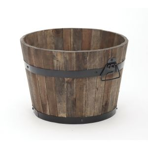 Rustic Wood Barrel - image 4